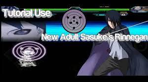 How to use Rinnegan of New Adult Sasuke ? - Bleach VS Naruto MUGEN - YouTube