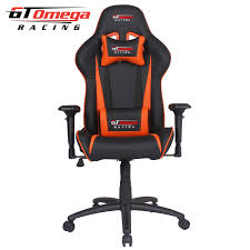 gt omega pro racing office chair black next orange leather