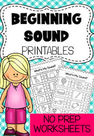 These free worksheets are printable and designed to accommodate any lesson plan for reading that includes phonics. Beginning Sounds Printable Worksheet Pack Kindergarten Phonics