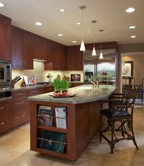 View in gallery Flowing form and innovative cone pendant lamps make up this  modern Asian kitchen