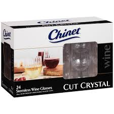 chinet cut crystal 15 oz stemless wine glasses 24 ct box com