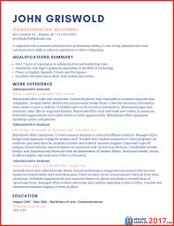Resume Examples 2017 Unique Administrative Assistant Resume Examples 24 Personal Leave 15