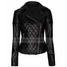 Ladies Quilted Biker Jacket | Designer Womens Black Leather Jacket & Designer Womens Black Leather Quilted Biker Jacket Adamdwight.com