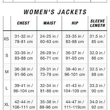 Womens Blazer Size Chart Skillful The North Face Womens Size Chart North Face Womens