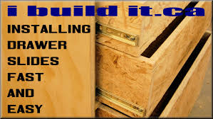 Add Drawers To Kitchen Cabinets Installing Drawer Slides Fast And Easy Youtube