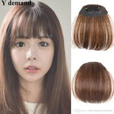 Wholesale 100 Like Human Hair Extension Clips Inon Side Bangs Hair Fringe High Quality Hair Piece 3 Colors