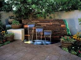 Small Picture cool small outdoor water flow fountain ideas on the brick stone
