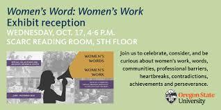 Womens Word Womens Work Exhibit University Relations And