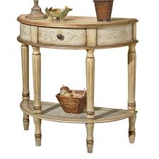 full size of half circle console table butler specialty artists originals tuscan cream hand painted half