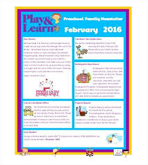 Preschool Newsletter Templates Free Sample Example Format Daycare