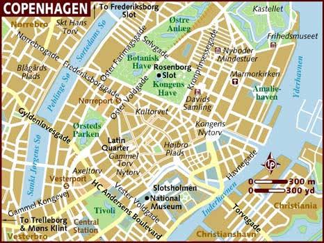 Image result for map of copenhagen denmark