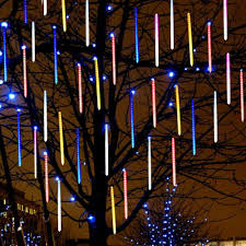 String Light Outdoor Christmas Tree Us 7 18 30 Off 8pcs Set Meteor Shower Rain Tube Led Christmas Tree Light Wedding Garden Xmas String Light Outdoor Holiday Lighting Garland In Led