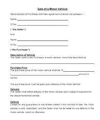 Purchase Agreement Vehicle Installment Sale Agreement Template Motor Vehicle Installment Sales