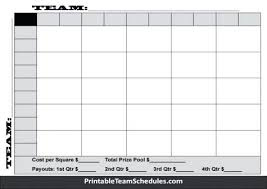Football Pool Template Square Best Of Printable Sports