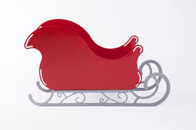 large santa sleigh with scroll base