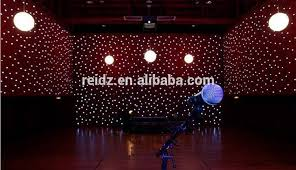 new wedding stage backdrop decoration sky effect star led light black curtain