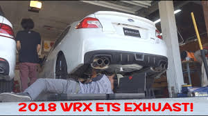 2018 subaru exhaust.  subaru 2018 subaru wrx ets catback exhaust install  rev  flybys with subaru exhaust 2