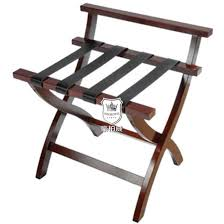 traditional solid wood hotel bedroom luggage rack for guest pictures photos