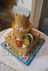 Sandcastle Novelty Wedding Cake Jemz Cake Box