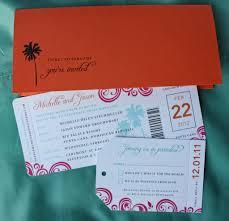 orange and turquoise wedding invitations. orange, pink \u0026 turquoise swirl palm tree airline ticket wedding invitations orange and s