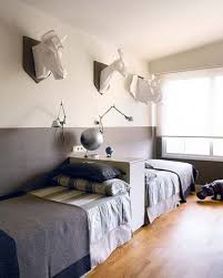 Love this Idea for the boys shareing a room! Put two beds against a ...