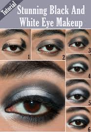 stunning black and white eye makeup tutorial infographic