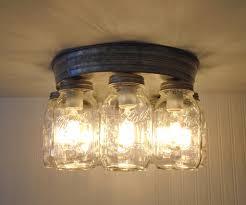 ... Galvanized Mason Jar Ceiling Light 8-Light - Mason Jar Light Fixture -  The Lamp ...
