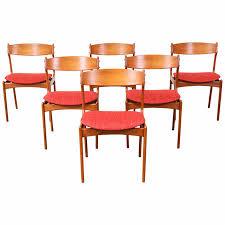 erik buck 49 teak dining chairs for o d mobler teak dining with concept with teak dining