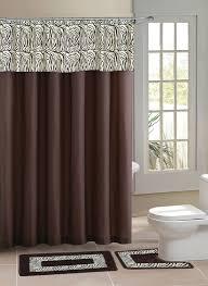 home dynamix designer bath shower curtain and bath rug set db15z 500 zebra brown designer bath collection shower curtain mat set shower curtain