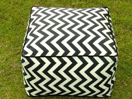 Black And White Pouf Black And White Outdoor Pouf How To Repair An Outdoor Pouf
