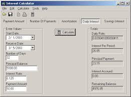 Interest And Principal Payment Calculator Markosoft Interest Calculator Help