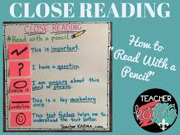 Close Reading How To Read With A Pencil Strategy Teacher