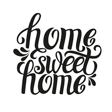 Small Picture Home sweet home typography Custom Wallpaper