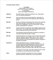Resume Outline Free Awesome Resume Outline Template 28 Free Sample Example Format Download 28 At