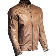 richa cafe leather motorcycle jacket black mens biker café racer