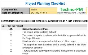 Learn To Note Project Planning Checklist | Download Template And ...