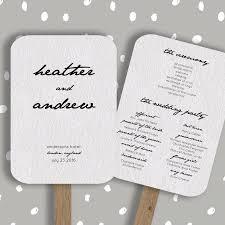 Wedding Program Fan Template Editable In Word Diy Printable