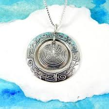 man in the maze silver necklace