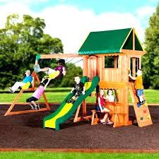 bjs cedar wood swing set backyard discovery wooden somerset instructions