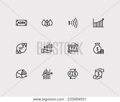 Financial Icons Set Vector Photo Free Trial Bigstock