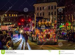 Festival Of Lights Bangor Maine 2018 Semi Truck Decorated At Holiday Parade Editorial Stock Photo