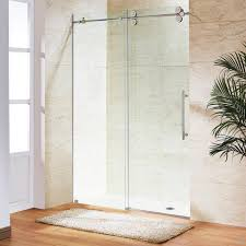 66ft chromed polished stainless steel sliding barn shower door twin inside foot shower doors