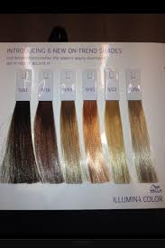 Wella Color Perfect Hair Color Chart Wella Illumina Hair Colors In 2019 Hair Color Shades Hair