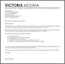 Radiation Therapy Resume Templates Radiation Therapist Cover Letter