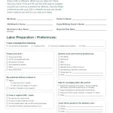 Birth Plan For C Section Template Birth Plan Template Download Free Printable Templates