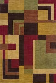 allure red geometric rug 009a1