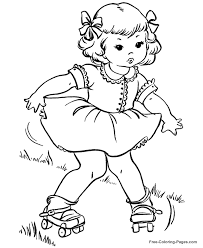 Small Picture Summer Coloring Book Pages RollerSkates 05