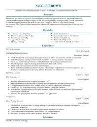 Executive Assistant Resume Template Custom Executive Assistant CV Template CV Samples Examples