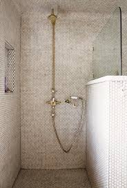 shower with hex tiles