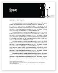 Black And White Letterhead Food Beverage Letterhead Templates In Microsoft Word